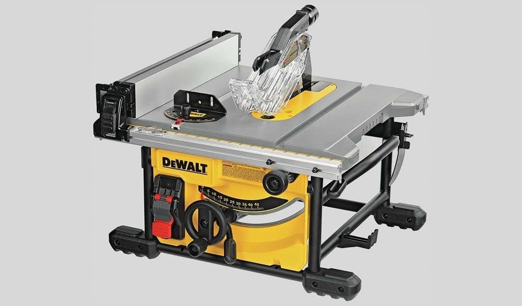 1 DEWALT Table Saw for Jobsite, Compact, 8-14-Inch (DWE7485)