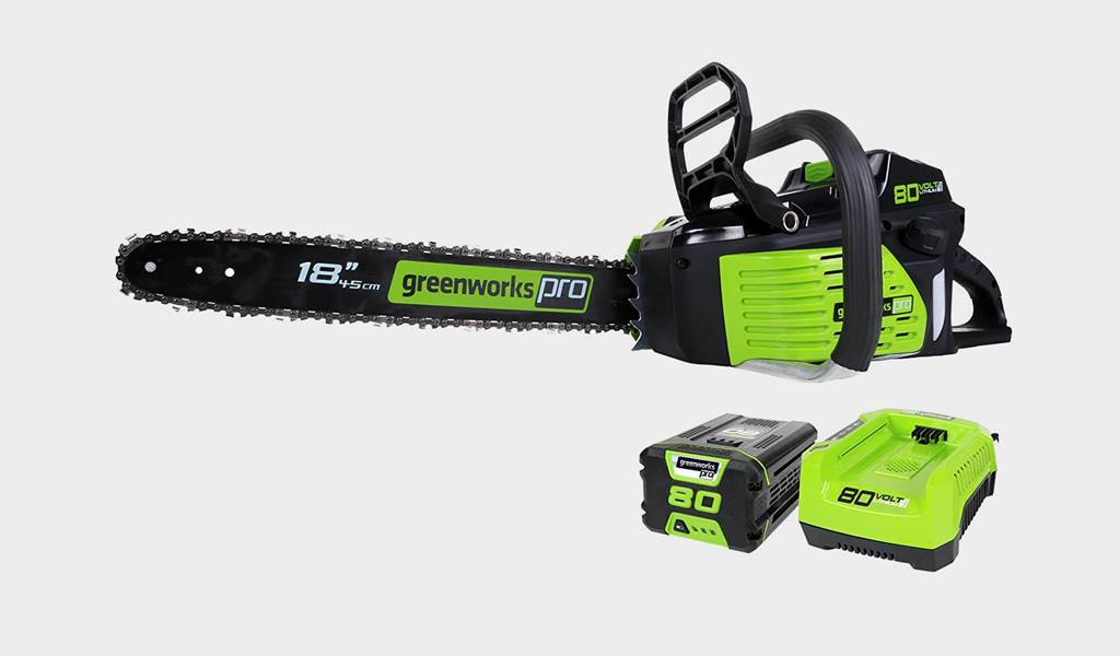 4 - Greenworks Pro GCS80420 80V 18-Inch Cordless Chainsaw - Best Cordless