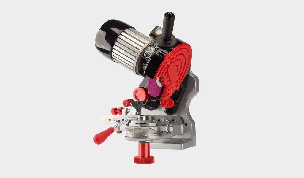 1 Oregon 410-120 Bench or Wall Mounted Saw Chain Grinder,red
