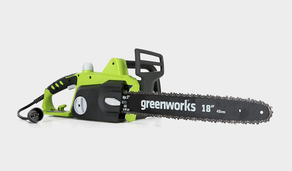 2 - Greenworks 20332 18-Inch Corded Electric Chainsaw - Best budget