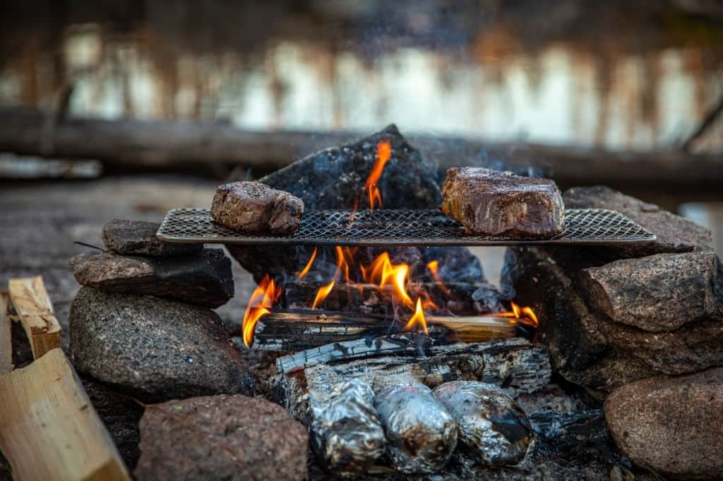 precautions while burning a firewood